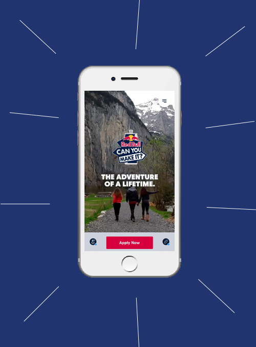 Red Bull Can You Make It mobile website